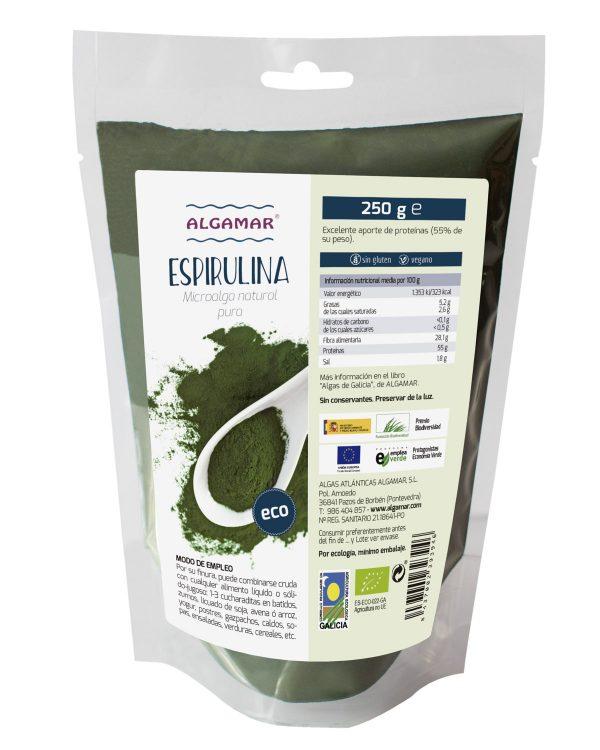 alga espirulina polvo algamar