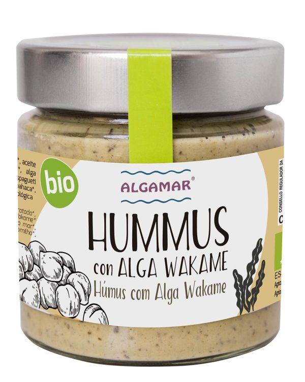 hummus con algas