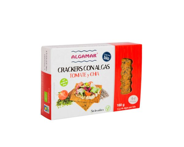 crackers integrales con tomate